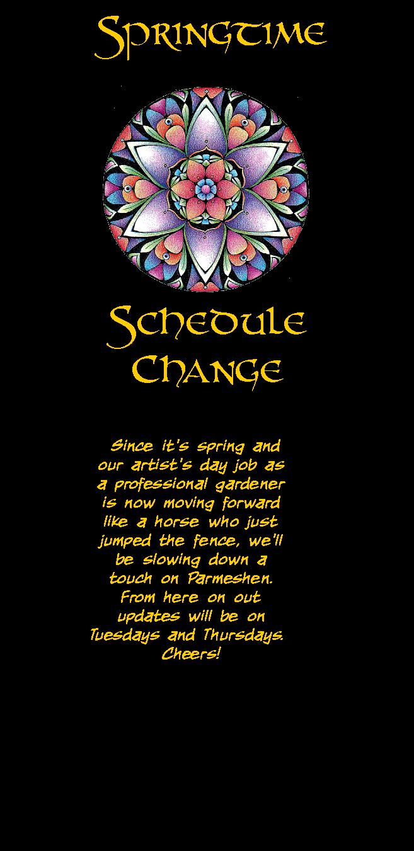 Spring Schedule Change